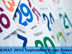 KMAT September 2016: Exam Dates