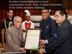 President on Indian Universities Ranking