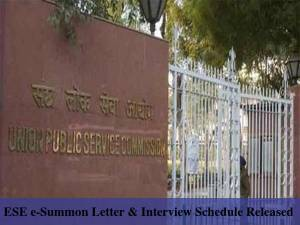 UPSC Releases e-Summon Letter For ESE