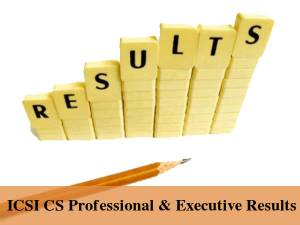 ICSI CS Professional & Executive Results