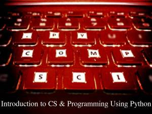 Online Course On Introduction to CS & Programming