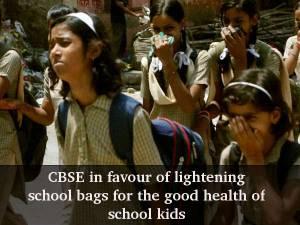CBSE: Lighten school bags for the good of kids