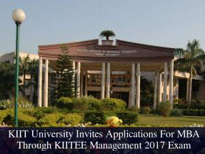 KIIT University Invites Applications For MBA 2017