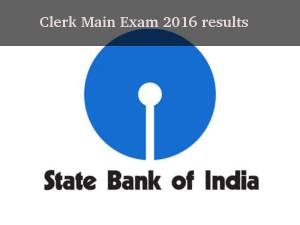 SBI Clerk Main Exam 2016 results