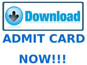 Admit Cards Released