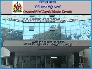 Karnataka II PUC Exam At Nine Centers