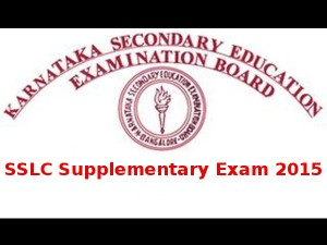 Karnataka Sslc Supplementary Exam Time Table 2015