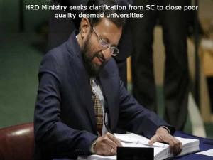 Hrd Seeks Sc Clarification Deemed Universities