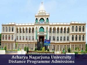 Acharya Nagarjuna University Invites For Applications Distance Program