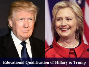 Us Presidential Election 2016 Educational Background Of Hillary Trump