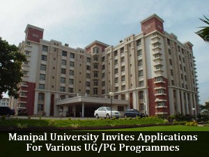 Manipal University Invites Applications For Various Ug Pg Programme