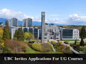 University Of British Columbia Invites Applications For Ug Courses