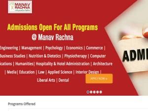 Manav Rachna University Opens Engineering Admissions