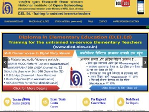 Nios Deled Admit Card Released For September 2018