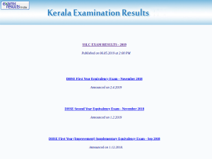 Plus Two Result 2019 Steps To Check Kerala Dhse Results
