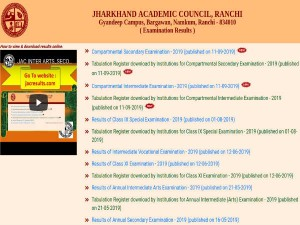 Jac Compartment Result 2019 Declared For Class 10 And 12 Direct Links To Check Jharkhand Board Resul