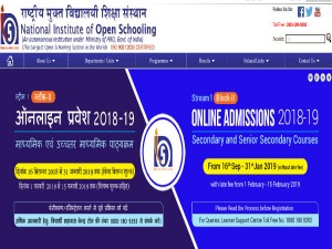 Nios Admit Card For Class 10 And 12 September October Board Exams 2019