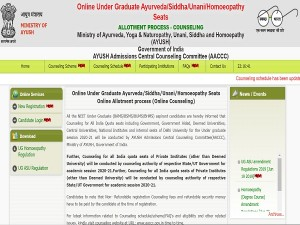 Ayush Counselling 2020 Check Ayush Neet Counselling 2020 Date And Registration