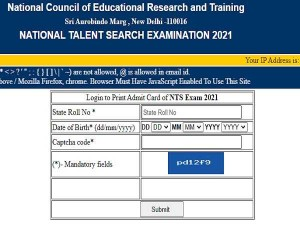 Ntse Stage 2 Admit Card 2021 Released By Ncert Check How To Download