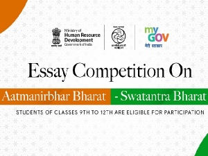 Aatmanirbhar Bharat Swatantra Bharat: An Online Essay Competition For School Students